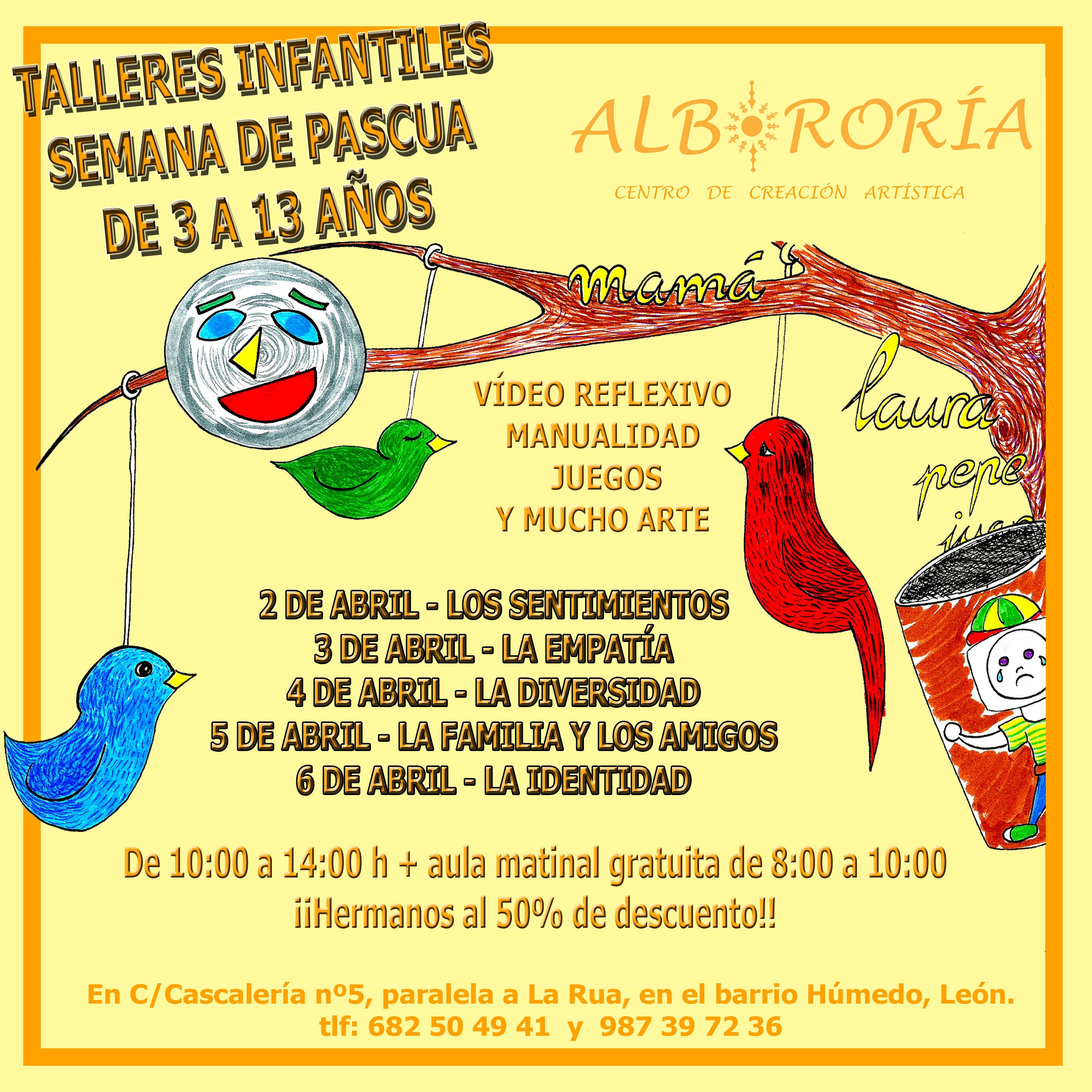 Talleres Infantiles De Semana Santa En Leon Albororia